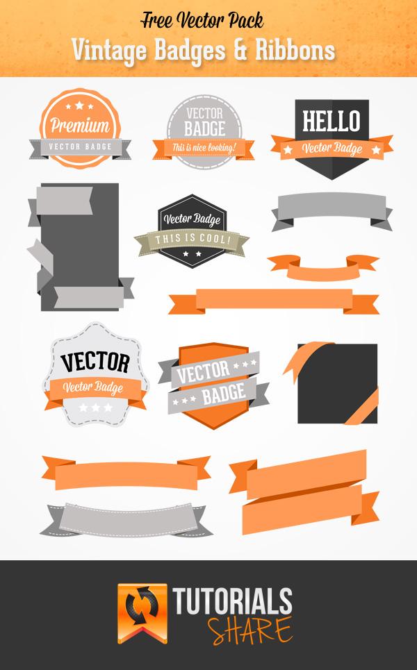 Vintage Ribbon Vectors Free