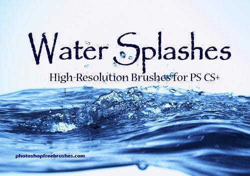 Water Splash Photoshop Brush