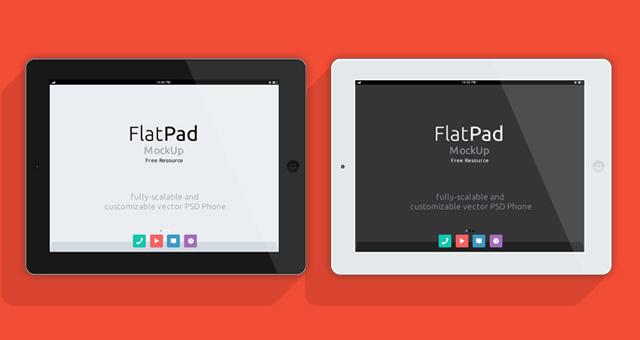 White iPad PSD Mockup Vector
