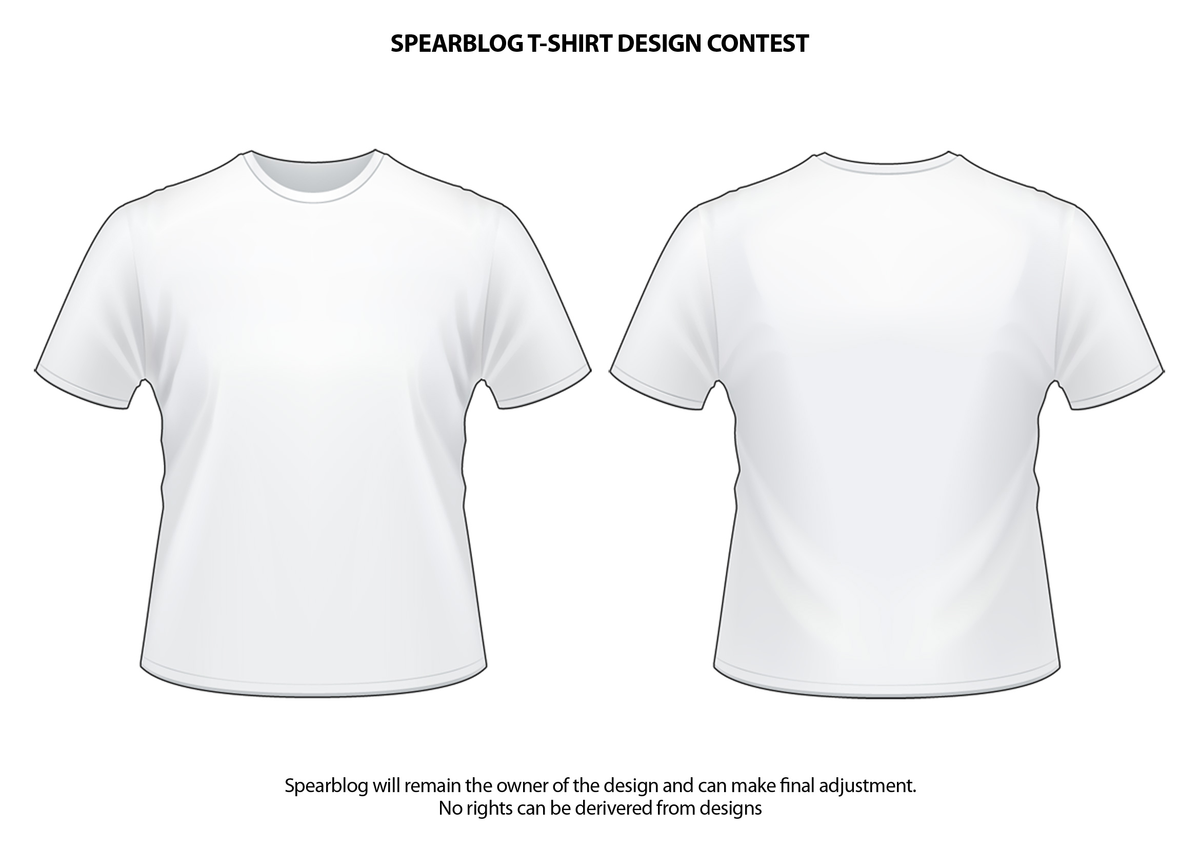 15 White Shirt Template Design Images