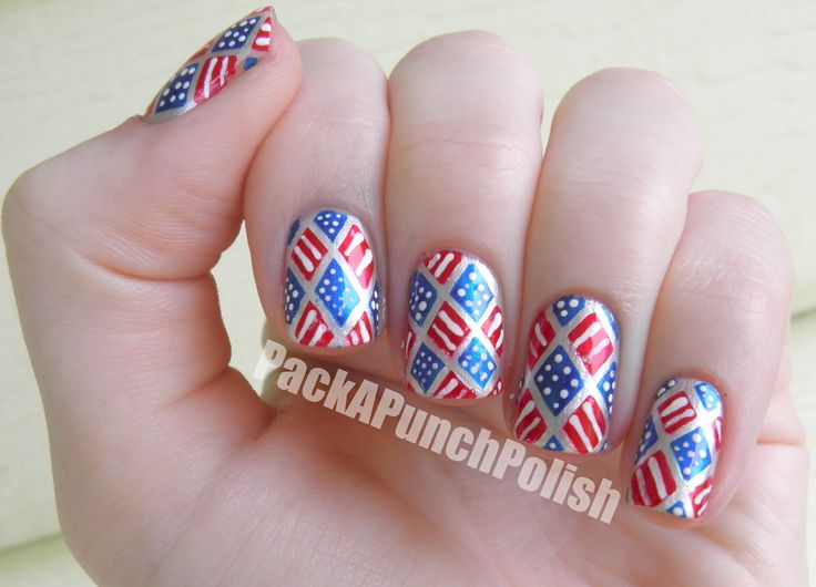 4th July Nails Design