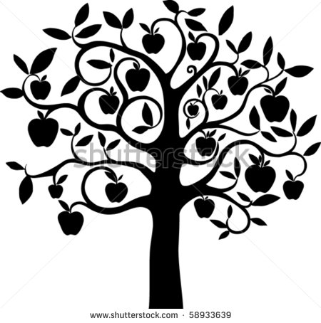 11 Apple Tree Vector Images
