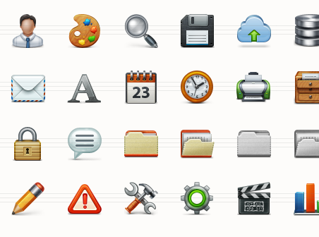Application Toolbar Icon Set