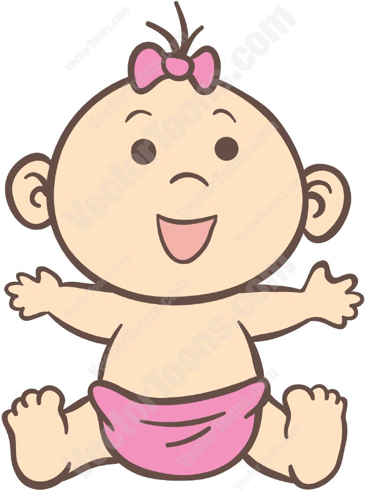 12 Baby Girl Vector Images