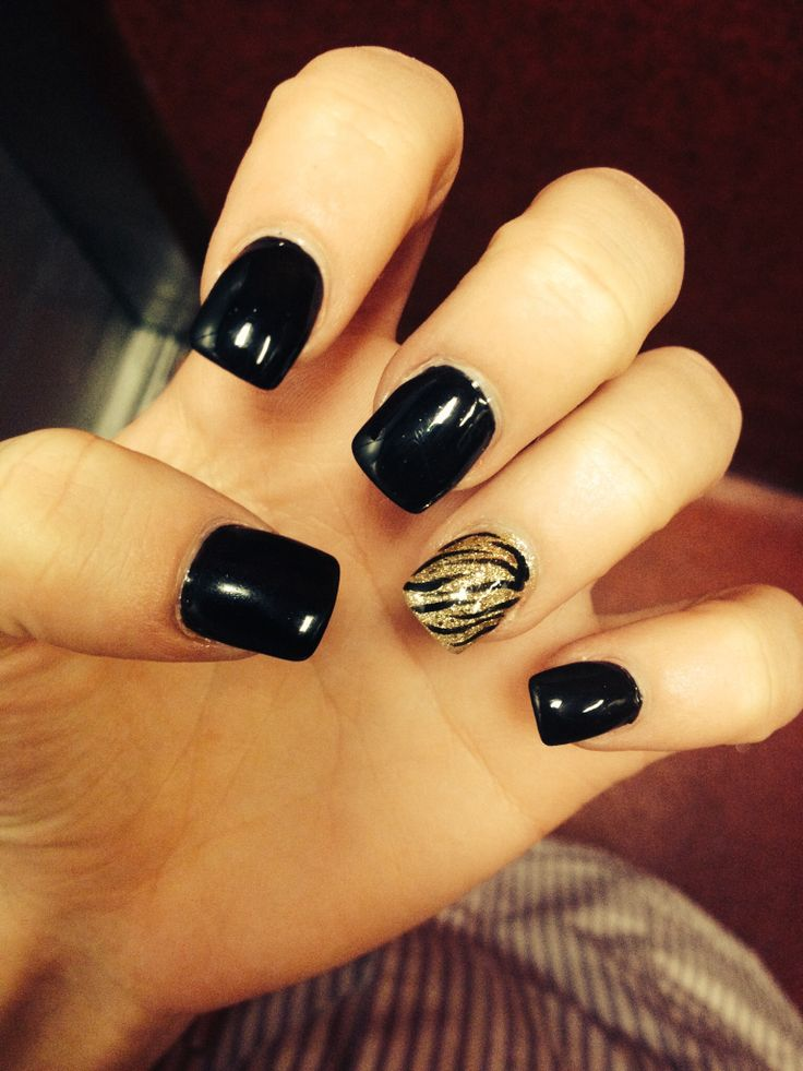 10 Black And Gold Nail Designs Pinterest Images