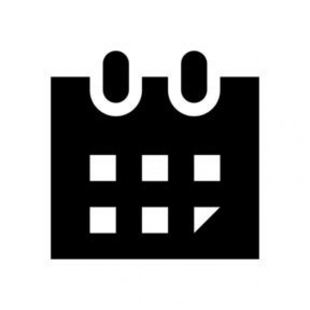 Black and White Calendar Icon