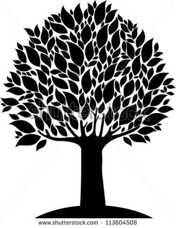 Black and White Tree Logo