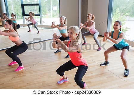 Black Fitness Women Squat