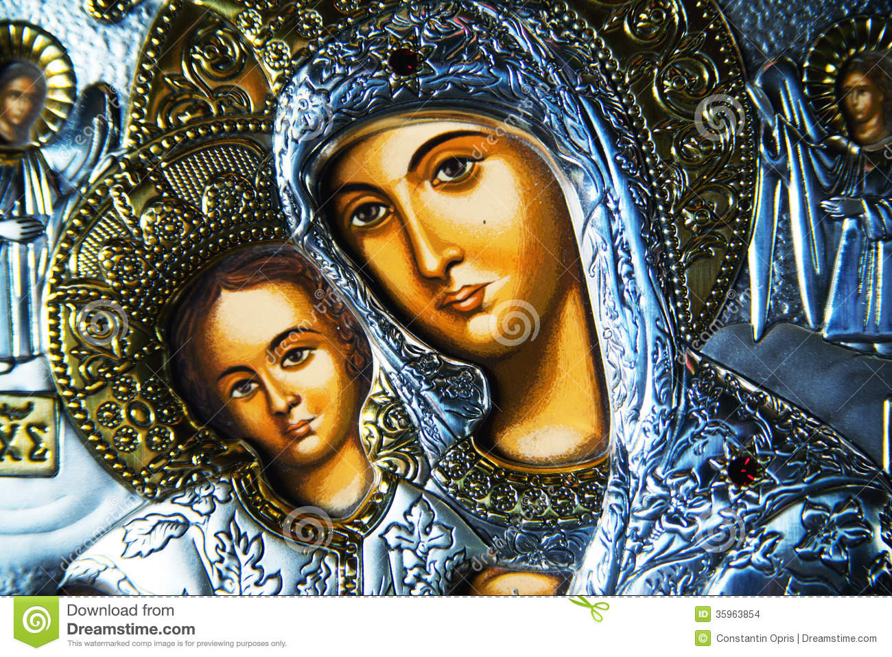 Black Virgin Mary and Baby Jesus