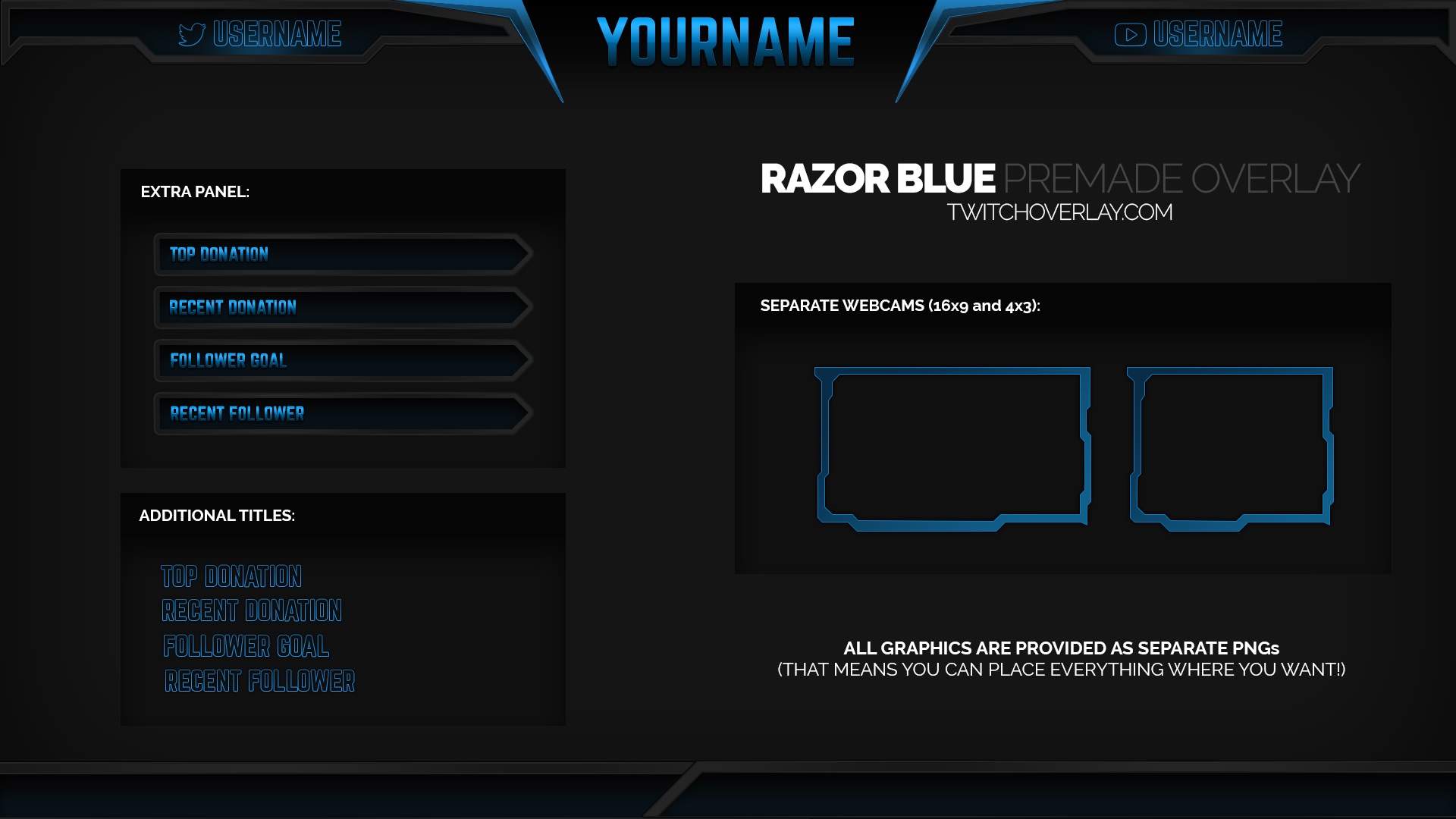 14 Custom Twitch Overlays PSD Images - Twitch Overlay, Blank