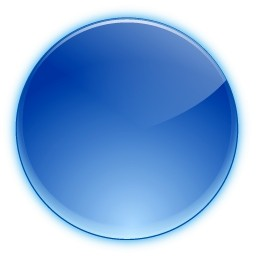 11 Blue Circle Button Icon Images