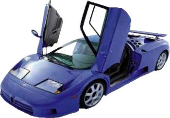 Blue Cartoon Sports Car