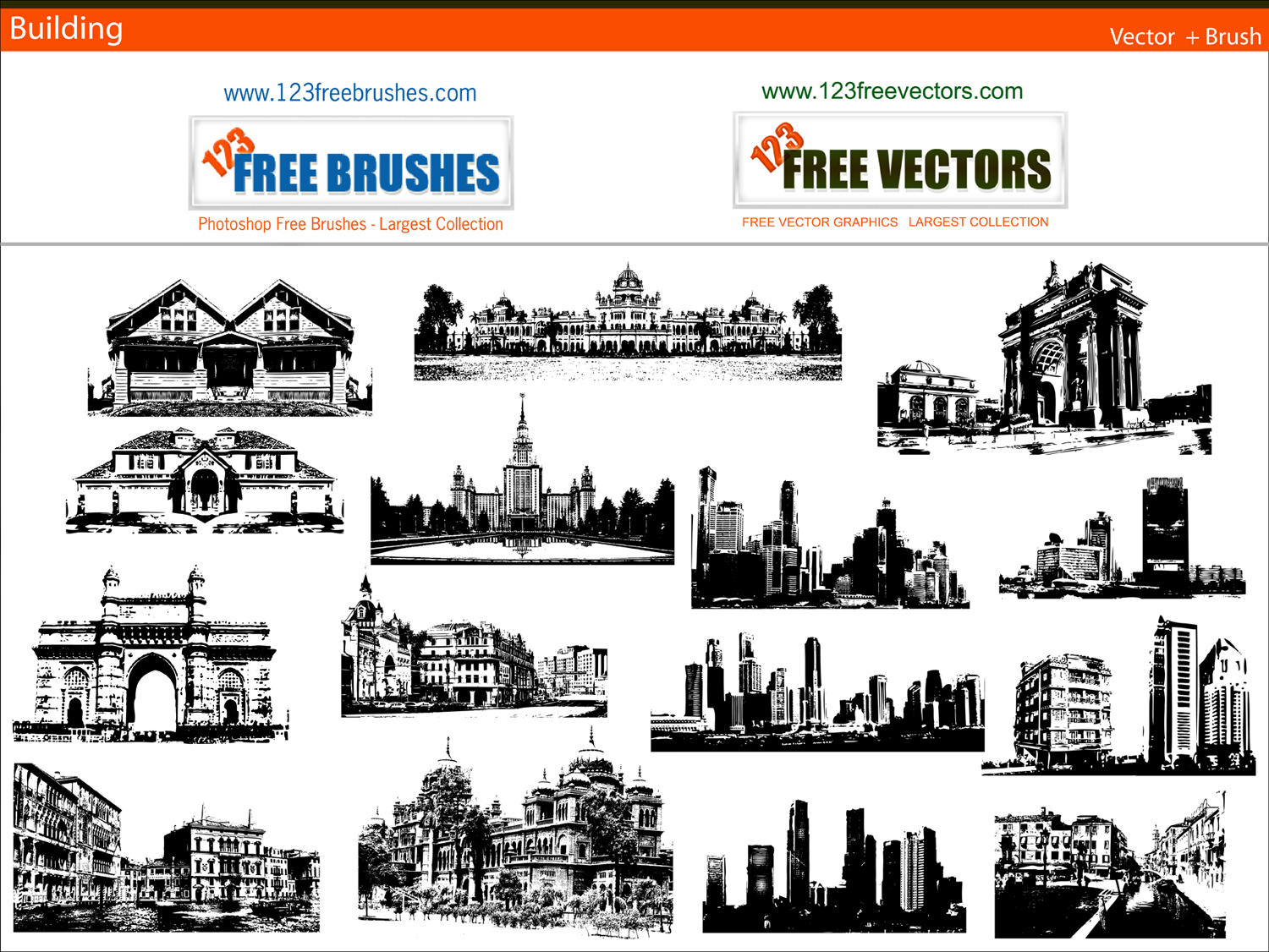 15 City Building Vector Free Download Images