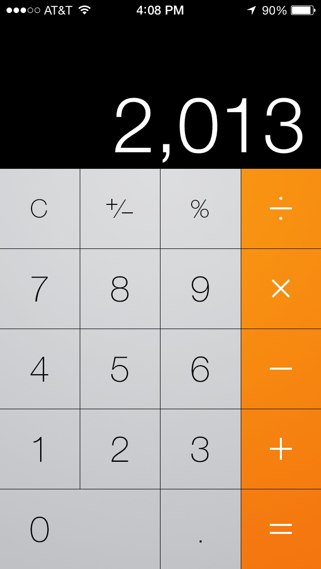 7 IOS 7 Calculator Icon Images