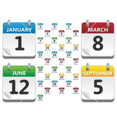 Calendar Icon Vector Free Download