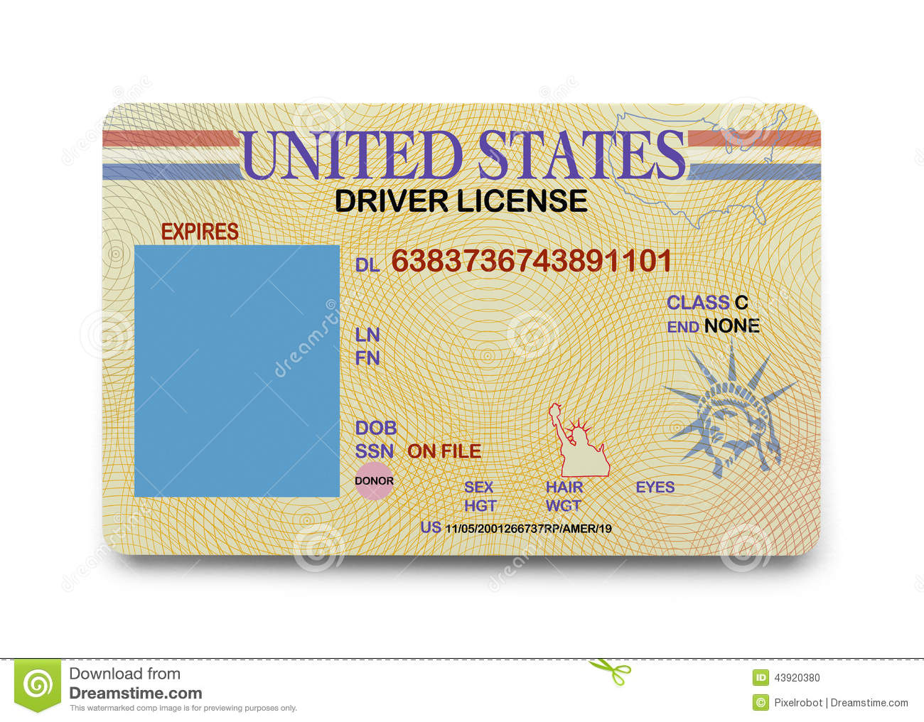 New Florida Drivers License >> 8 Blank Drivers License Template PSD Images - North Carolina Drivers License Template, Virginia ...