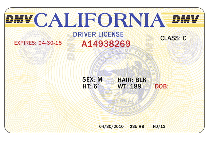 8 blank drivers license template psd images north for California id template download