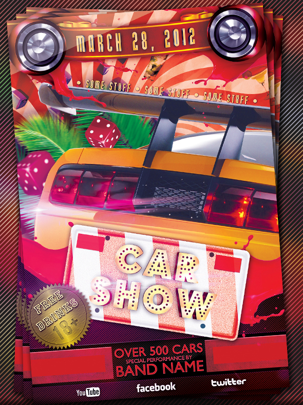 Free Car Show Flyer Template Militaryalicious