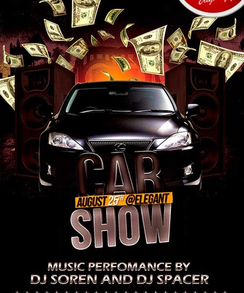 17 Car Show Flyer Template PSD Free Images