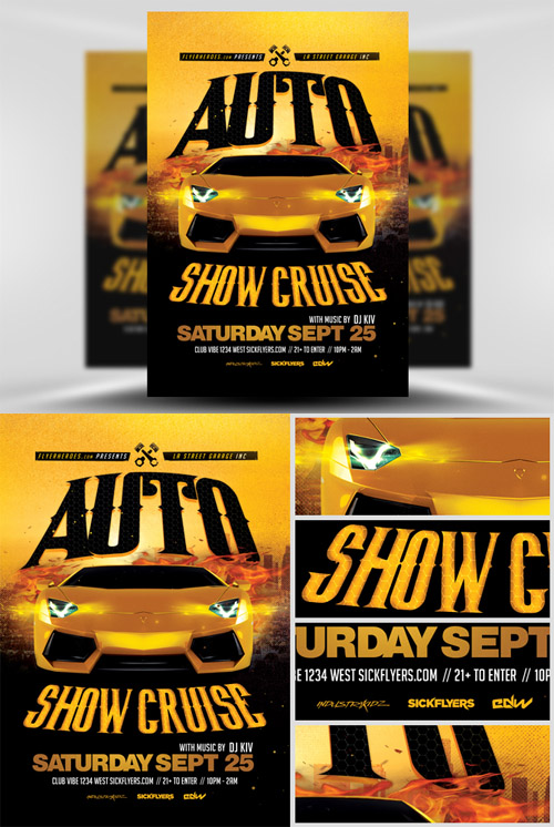 Car Show Flyers Design Template