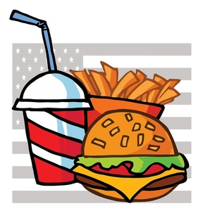 Cartoon Burger and Fries Clip Art