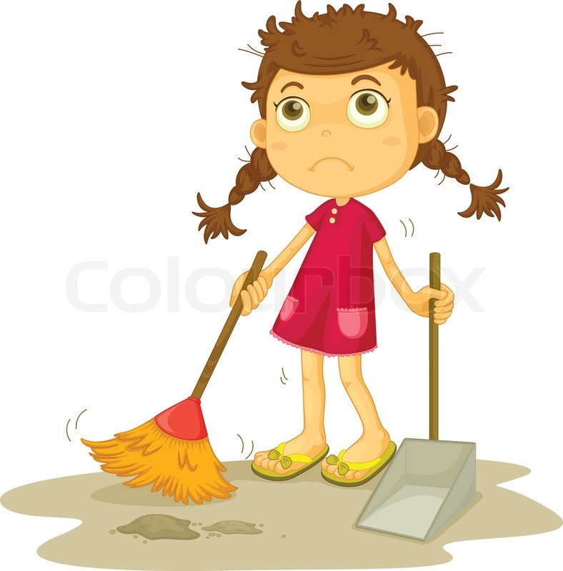 16 Cleaning Vector Girl Images Cartoon Girl Cleaning