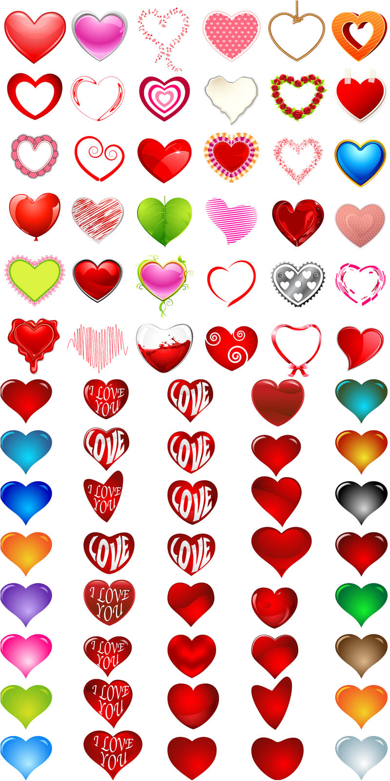 Cartoon Heart with Love