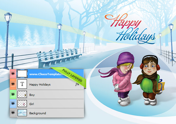 Christmas Holiday Card Templates Free