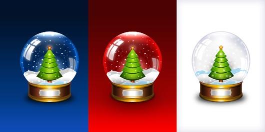 13 Christmas Globe PSD Images