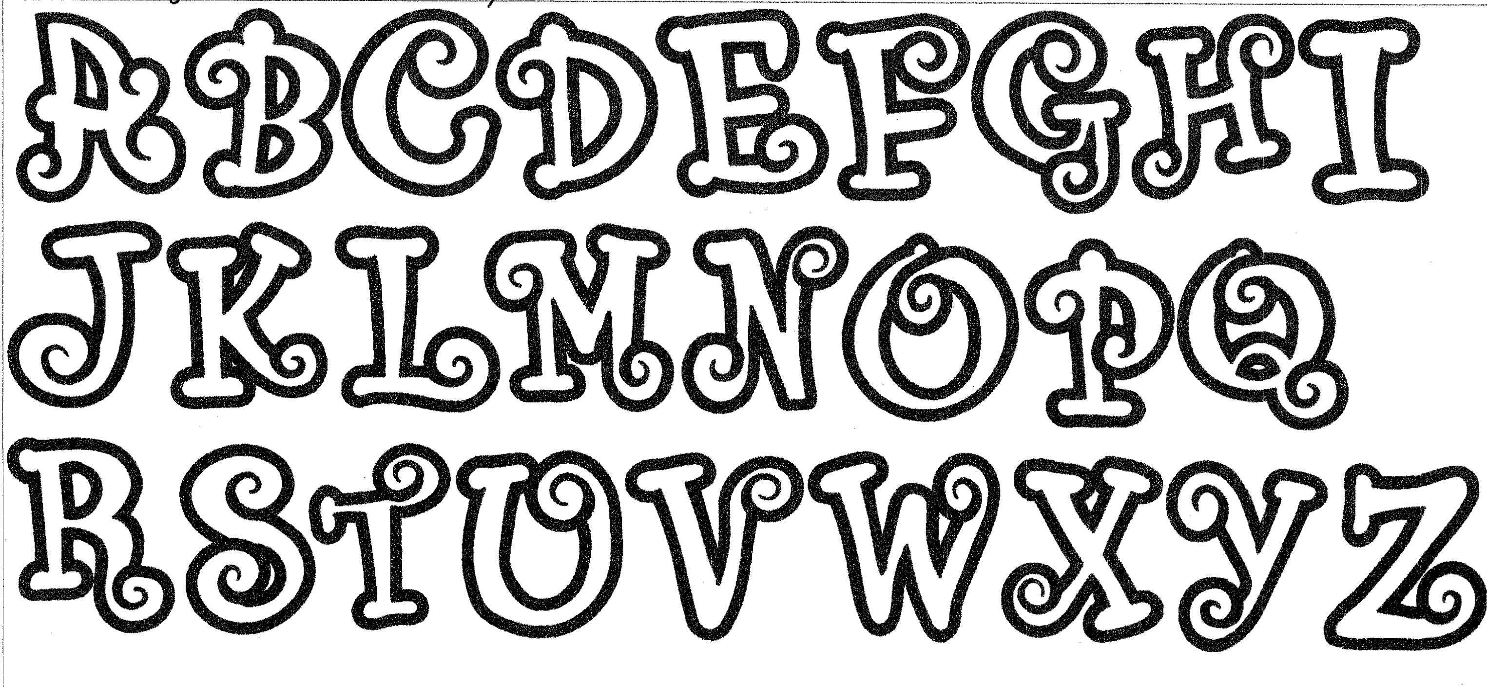 Chunky Curlz Applique Font