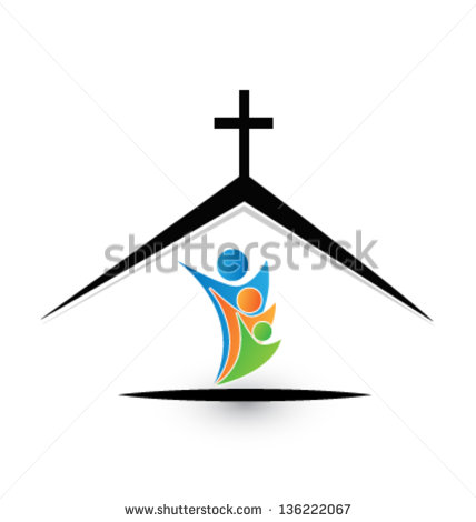 19 Family Church Icon Vector Images