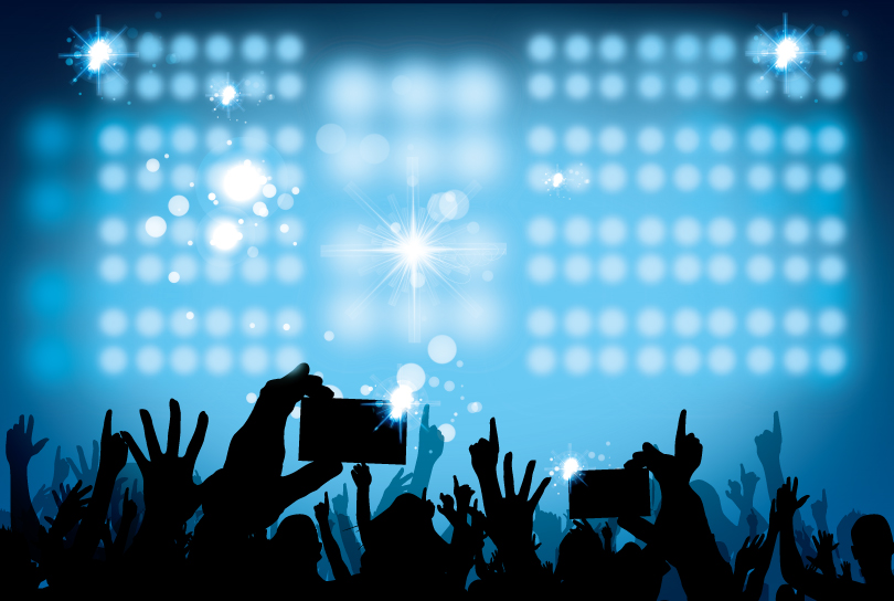 12 Crowd Stage Background Psd Images