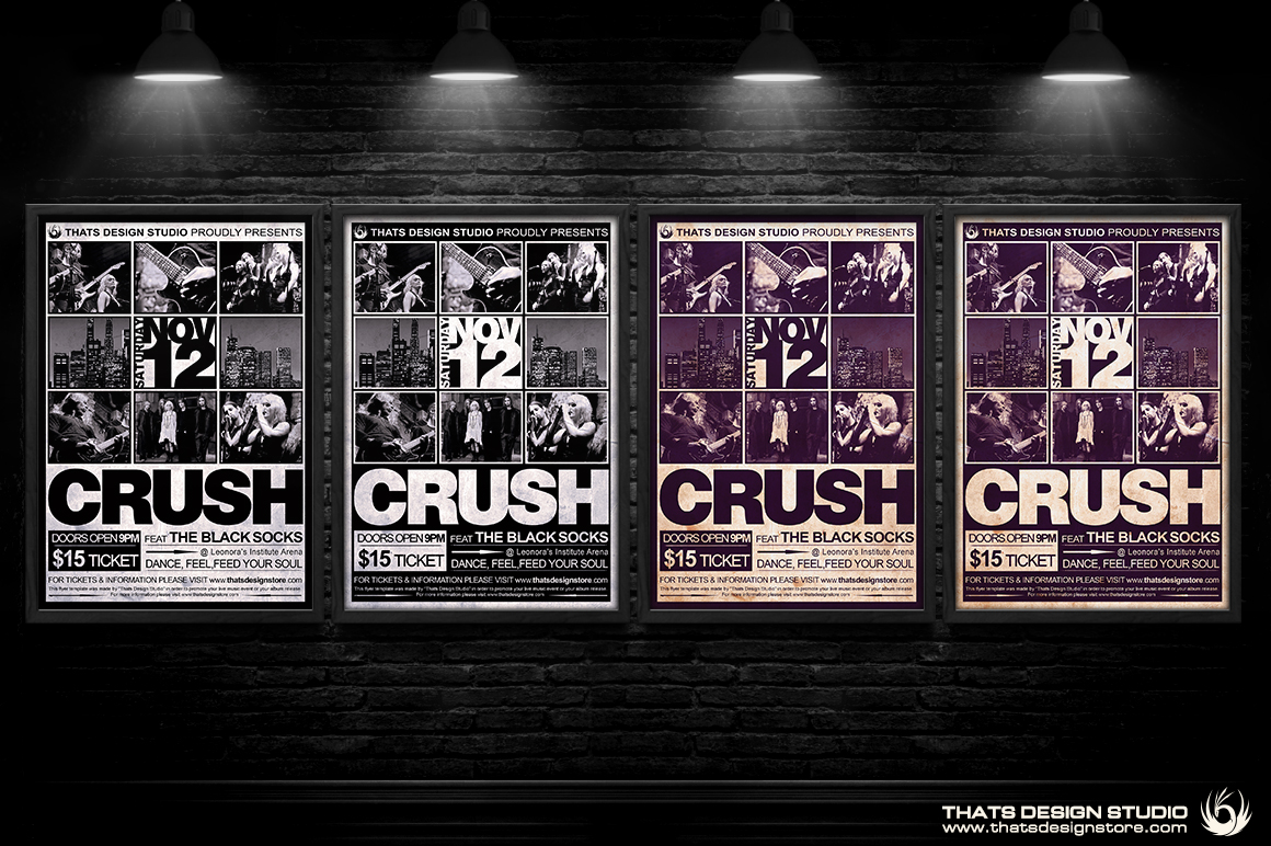 14 Concert Poster Templates Psd Free Images - Photoshop PSD Poster ...