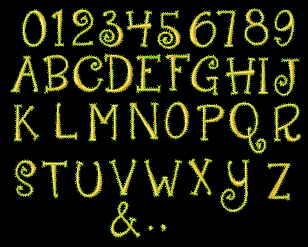Creepy Number Fonts
