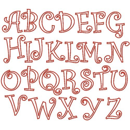 Curlz Applique Font Embroidery