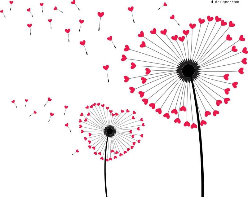 Cute Cartoon Dandelion