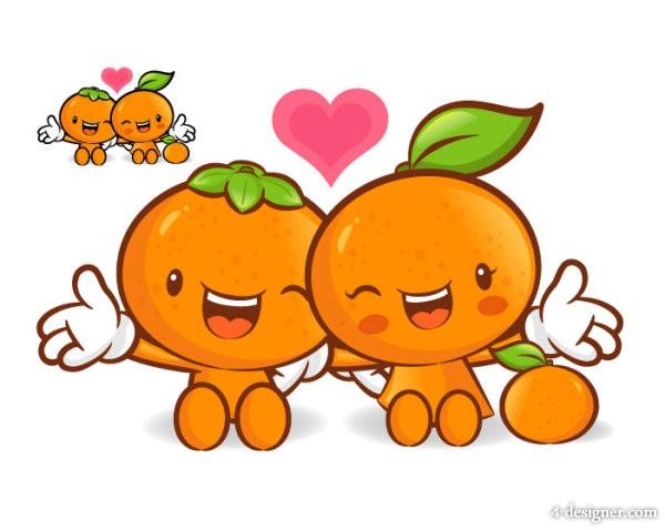 Cute Cartoon Fruit Orange