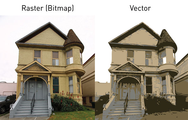 Difference Between Bitmap and Vector