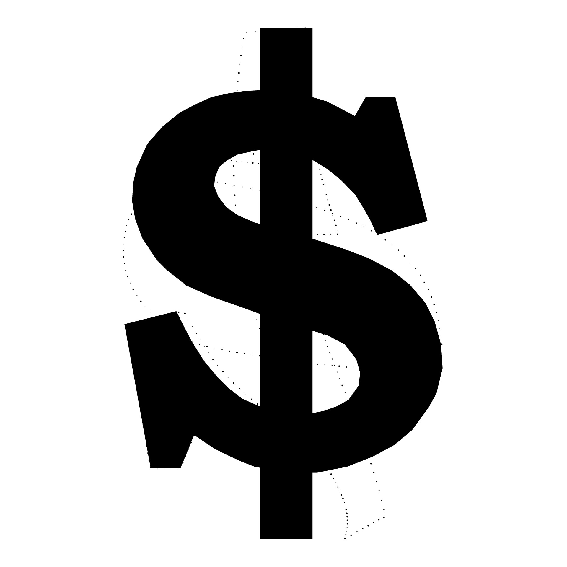 13 Black Dollar Sign Vector Images