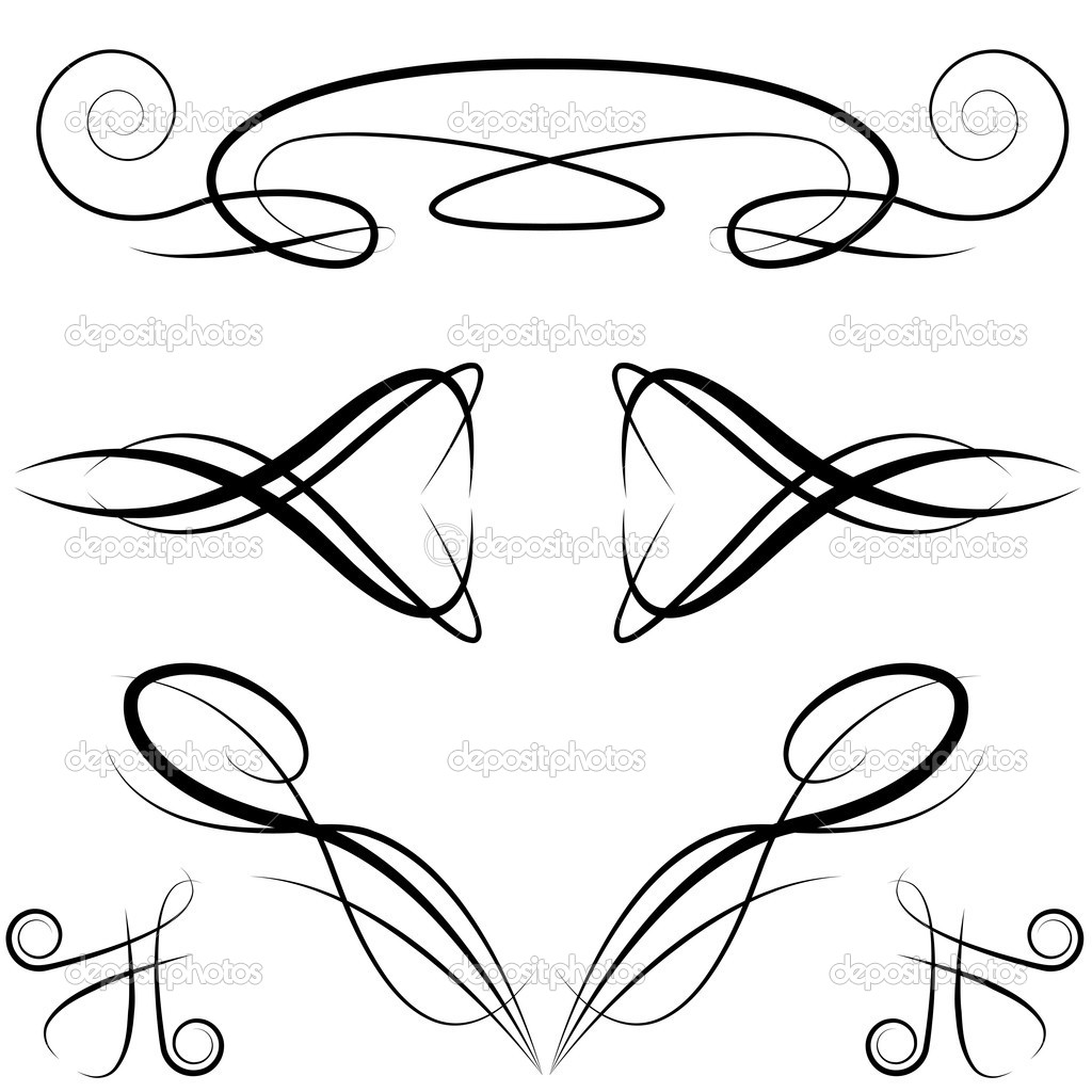 15 Elegant Vector Line Designs Images - Elegant Vector ...