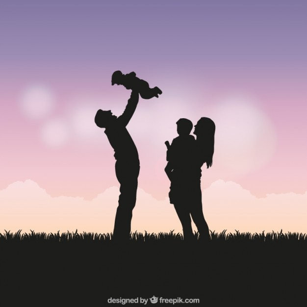 Family Silhouette Vector Free
