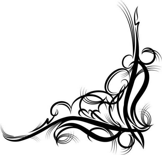 Fancy Corner Scroll Design Clip Art