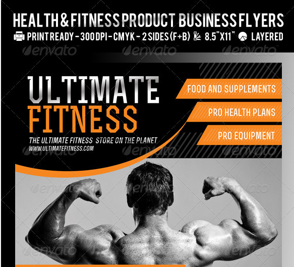 Free Fitness Gym Flyer Template Psd Files And Free Church: 11 Free Psd Product Flyer Templates Images