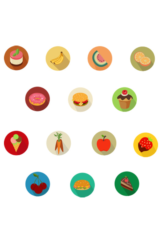 Flat Food Icons Free