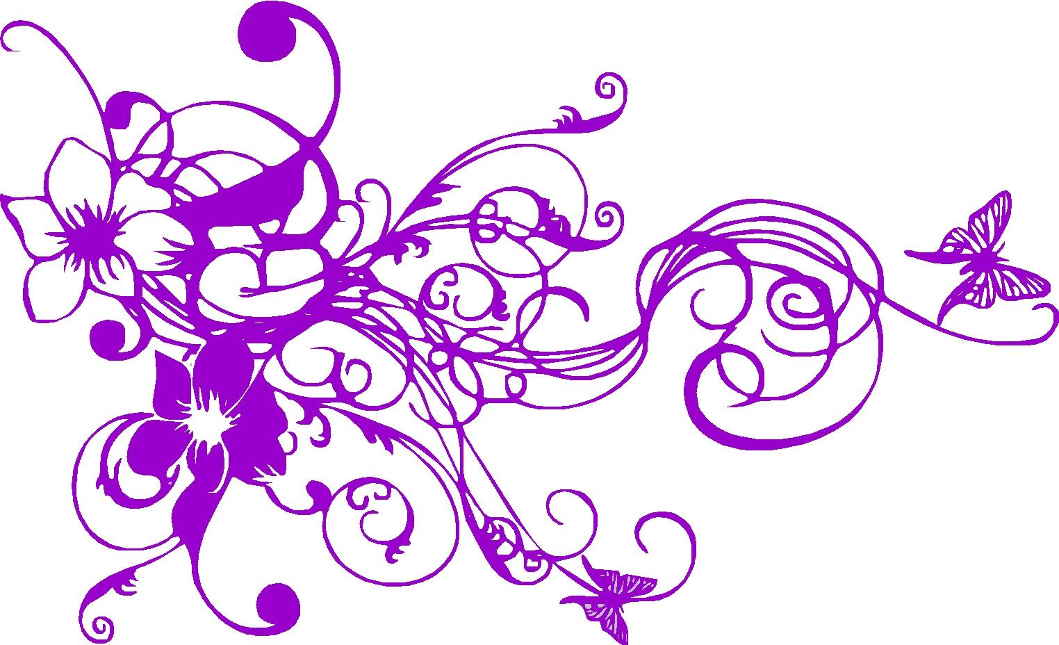 flowers and swirls designs - photo #36