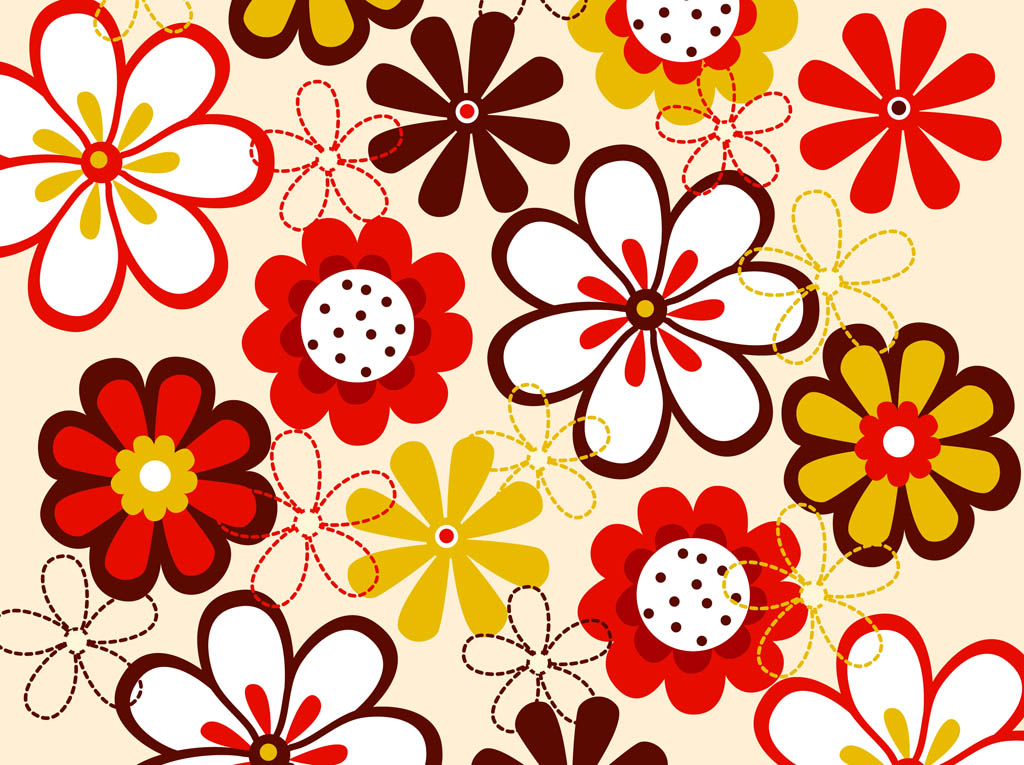 19 Free Vector Flowers Pattern Images