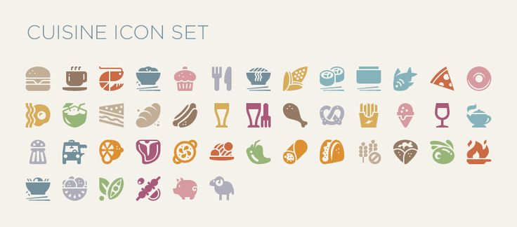 Food Icon Font