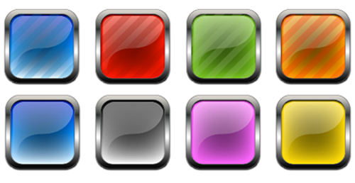 14 Glass Button Icon.png Free Images