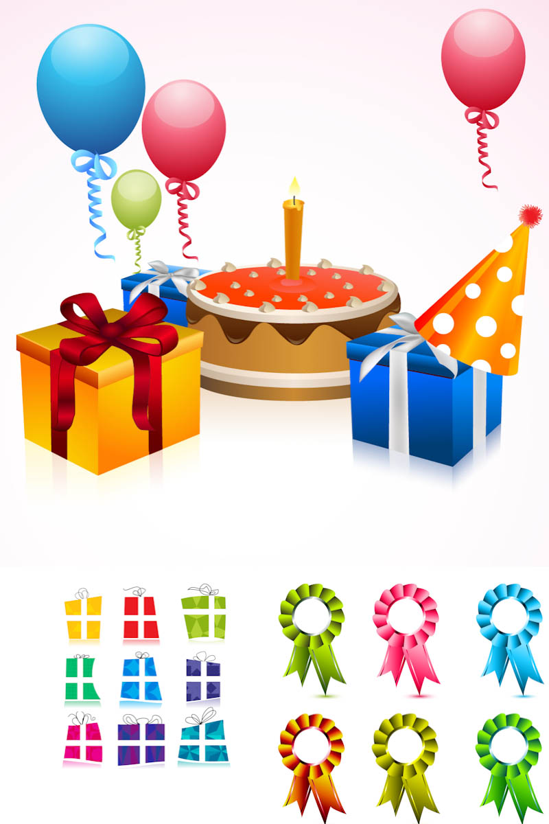 14 Vector Happy Birthday Gift Images