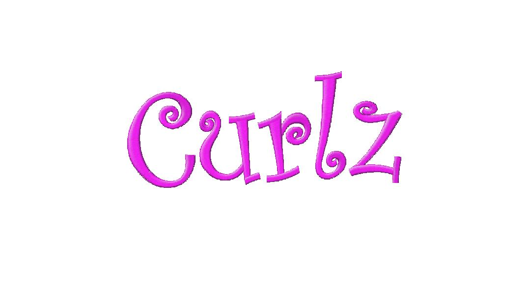 Free Curlz Embroidery Font Download